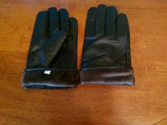 Leather sheepskin gloves