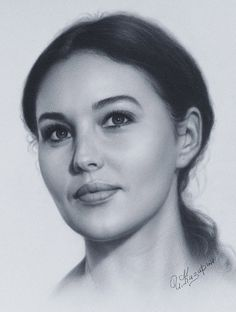Portrait of Monica Bellucci drawn by Igor Kazarin, drawing in dry-brush technics Look at my site DRAWING VIDEO - Portr. Human Face Drawing, Brush Drawing, Painting & Drawing, Drawing Faces, Pencil Portrait Drawing, Portrait Art, Drawing Portraits, Dry Brush Painting, Monica Belluci