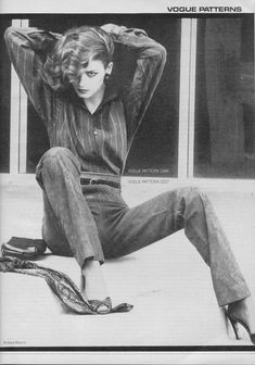 Calvin Klein - Gia Carangi models Vogue Patterns. Vogue, October 1978. Photo by Andrea Blanch