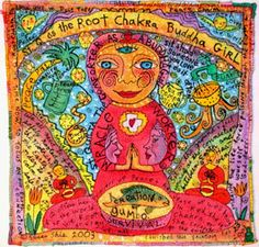 Root Chakra Buddha Girl with Duct Tape Peace Charm. Madonna, Peace Painting, Sitting Buddha, Chakra Art, Chakra Meditation, Girls Gallery, Applique Quilts, Girls In Love, Paintings For Sale