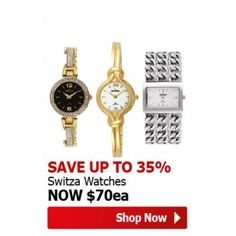 Save up to 35% OFF on Switza Watches @ The Warehouse - Bargain Bro