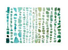 guest bedroom art -  Seaglass Spectrum: Aquamarine to Emerald - 8 x 10 photograph. $20.00, via Etsy.
