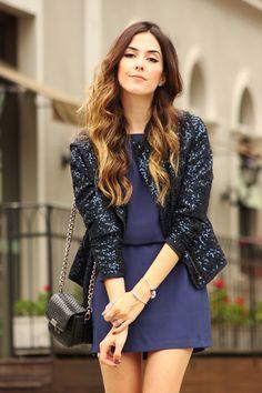 FashionCoolture - 12.11.2015 look du jour Pandora jewelry navy blue sequined jacket (7)