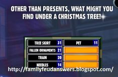 Christmas Questions And Answers, Family Feud Game Questions, Fun Christmas Games, Family Christmas, Holiday Fun, Group Games, Family Games, Dora Games, Dinner Games