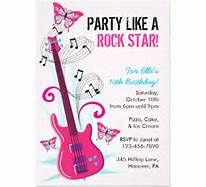 free printable rock star party invitations - Bing Images
