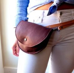 Leather Fanny Pack The Ester Fannypack in Soft Burgundy