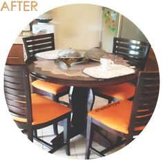 These dining chair just had a face-lift!  Head over to our web to see the before-after pic #gantikainsofa #helloilmare