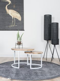 Home67 | Salontafel Bart Wit - Set van 2 Nesting Tables, Dining Table, Inspiration, Furniture, Home Decor, Occasional Tables, Living Room, Biblical Inspiration, Dining Room Table