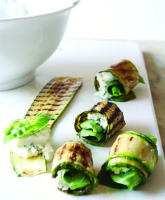 Grilled Zucchini Roll-Ups with Herbs and Cheese. Excellent source of: Molybdenum, Vitamin A, Vitamin B6, Vitamin C, Vitamin K. Good source of: Fiber, Manganese, Potassium, Riboflavin.