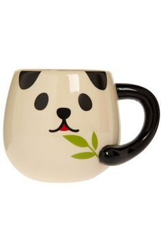 Lady Panda Mug. Lucky for you, this ceramic mug is so quintessentially cute, it is sure to add a dash of darling to your kitchens mod decor. #white #modcloth
