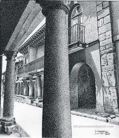 Barrio de Sabugo, Avilés. Colección paisajes a plumilla. Año 1999
