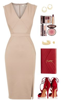 A fashion look from March 2016 featuring night out dresses, ankle strap pumps and man bag. Classy Dress, Classy Outfits, Stylish Outfits, Beautiful Outfits, Elegant Dresses, Pretty Dresses, Dress Outfits, Fashion Dresses, Charlotte Tilbury