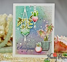 Don't you love making a card for no other reason but that you want to? Going through my ever growing Greetery. Bloom Where Youre Planted, Stampin Up Catalog, Cards For Friends, Hanging Plants, Homemade Cards, Stampin Up Cards, Scrapbook Pages, Cardmaking, Birthday Cards