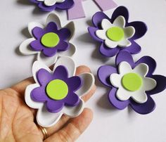 6- 3d foam flowers ideal for foam crafts, fofuchas and more