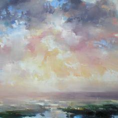 """open channel haze by craig mooney Oil ~ 48"""" x 48"""""""