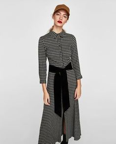 Image 2 of LONG CHECKED TUNIC from Zara