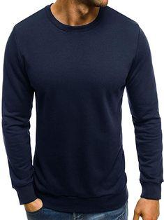 Legeres Sweatshirt, fällt recht groß aus  Bekleidung, Herren, Pullover & Strickjacken, Pullover Crew Neck, Sweatshirts, Sweaters, Fashion, Sweater Cardigan, Summer, Clothing, Breien, Moda