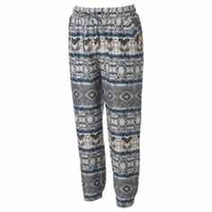 Mudd Challis Printed Harem Pants - Juniors