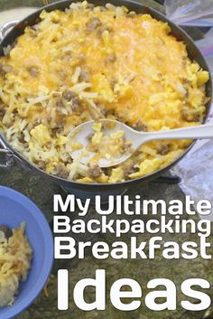 Breakfast is the the most important meal of the day. A healthy, satisfying breakfast essentially sets the stage for a productive, enjoyable day on the trail. Dehydrated Backpacking Meals, Dehydrated Food, Camping Meals, Backpacking Recipes, Camping Hacks, Camping Recipes, Backpacking Checklist, Camping Desserts, Ultralight Backpacking