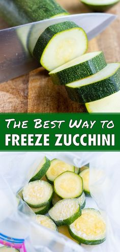 6 reviews · 10 minutes · Serves 4 · It's easy to Freeze Zucchini for your future use in all your favorite recipes. The fresh zucchini is sliced or shredded and then frozen to use all year long. Store it in a freezer-safe bag for up to 4… Sauteed Zucchini And Squash, Freeze Zucchini, Vegetable Soup With Chicken, Chicken And Vegetables, Healthy Spring Recipes, Healthy Snacks, Low Carb Recipes, Whole Food Recipes, Low Carb Carrot Cake