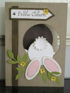 Easter cards with Stampin`UP! - Easter cards with Stampin`UP! – – Adriana Bachschmidt Easter cards with Stampin`UP! – Easter cards with Stampin`UP! Diy Easter Cards, Easter Crafts, Easter Ideas, Handmade Easter Cards, Easter Recipes, Rabbit Origami, Stampin Up, Punch Art Cards, Kids Cards