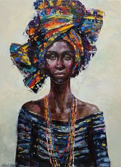 Buy African Queen portrait painting, Original oil painting, Oil painting by Anastasiya Valiulina on Artfinder. Discover thousands of other original paintings, prints, sculptures and photography from independent artists.