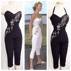 Vintage 1950s Ceeb of Miami jumpsuit catsuit L/XL by hipsmcgee, $900.00