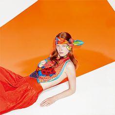 "Le Carré Hermès Rencontre heureuse ""Cheval Phoenix"" scarf in silk twill. Design: Bali Barret, Laurence Bourthoumieux - Rencontre heureuse""Phoenix à Cheval"" scarf in silk twill. Design: Laurence Bourthoumieux, Bali Barret. Play with your Hermès scarf with the Silk Knots app! Hermes.com/silkknots #Hermes #Silk #SilkKnots"