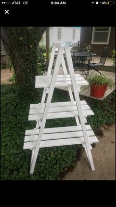 Porta Craft Show Displays, Craft Show Ideas, Diy Wood Projects, Diy Projects To Try, Cork Crafts, Diy And Crafts, Plant Ladder, Popsicle Crafts, House Plants Decor