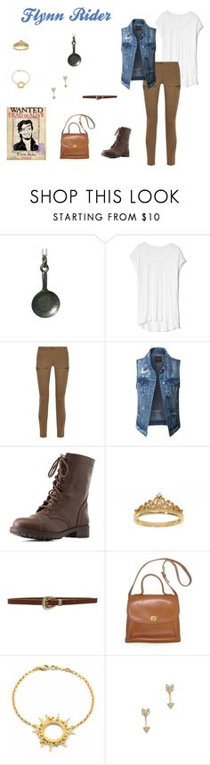 """""""Flynn Rider Disney Bound"""" by disney-nerd-designs ❤ liked on Polyvore featuring Gap, Belstaff, LE3NO, Charlotte Russe, Eternally Haute, B-Low the Belt, Annabelle Lucilla Jewellery, EF Collection, disney and disneybound"""