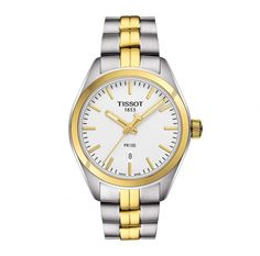 Tissot PR100 Ladies Bi-colour Watch. - Geeves Jewellers - suppliers of watches and jewellery, London
