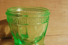 Vaseline Glass Sugar Bowl