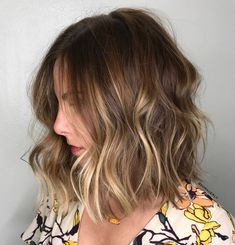 Medium Shag With Blonde Balayage