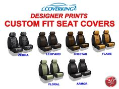 Coverking Designer Print Custom Fit Front Seat Covers for Ford Escape #Coverking