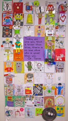 Use this quote with self-portraits kids make. Good for community building in beginning of the year