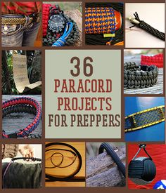 36 Paracord Projects For Preppers -By Survival Life Contributor on March 14, 2014   #paracord #prepper #survival