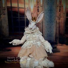 Art Dolls, Wonderland, Rabbit, Lion Sculpture, Statue, Fine Art, Bunny, Rabbits, Bunnies