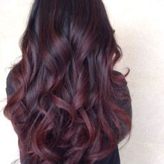 Red Balayage & Hair Highlights : Deep burgundy plumb with a hint of purple. Maybe try this the next time I dye my Hair Color Auburn, Auburn Hair, 2015 Hairstyles, Cool Hairstyles, Hairstyle Ideas, Hair Ideas, Wedding Hairstyles, Pelo Color Vino, 2015 Hair Color Trends