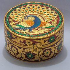 Vintage Royal Meenakari Peacock Jewellery Box-Big (Master Piece) just for $10.