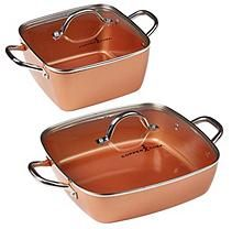 online shopping for Copper Chef Deep Casserole Pan Set , 12 from top store. See new offer for Copper Chef Deep Casserole Pan Set , 12 Copper Chef Square Pan, Casserole Pan, Copper Pans, Stainless Steel Oven, Food Tasting, Pan Set, Cookware Set, Bakeware, Ebay