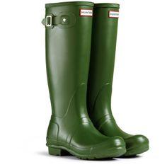 Hunter Original Tall Damen Fest Gummistiefel Wellington Boots - Grün - 36 - http://on-line-kaufen.de/hunter/35-36-eu-hunter-original-tall-damen-stiefel-8