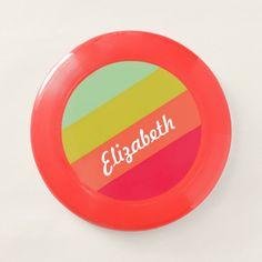Pastel Rainbow Personalized Name Wham-O Frisbee - tap to personalize and get yours #WhamOFrisbee  #rainbow #colorful #multicolored #colors #pastel