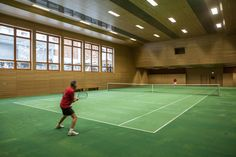 Space rental and prices on request. Tennis balls and rackets available. Zermatt, Switzerland, Tennis, Rackets, Warehouse, Balls, Indoor, Sport, School