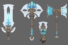 #龙之谷# Anime Weapons, Sci Fi Weapons, Fantasy Weapons, Game Concept Art, Weapon Concept Art, Fantasy Races, Fantasy Art, Claw Gloves, Dragon Nest