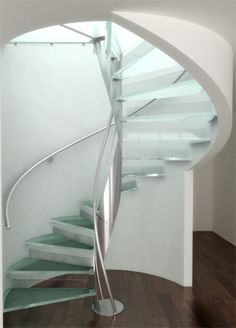 Spiral staircase (metal frame and glass steps) - RED HOUSE Q4686 - ArchiExpo