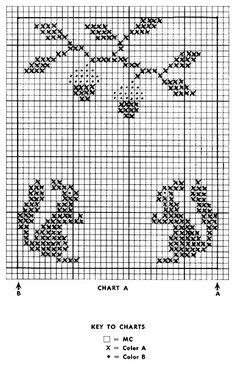 Cross Stitch Borders, Cross Stitch Samplers, Cross Stitch Animals, Cross Stitch Designs, Cross Stitch Patterns, Knitted Mittens Pattern, Intarsia Knitting, Knitting Charts, Knitting Patterns