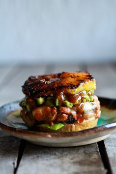 hawaiian salmon burger