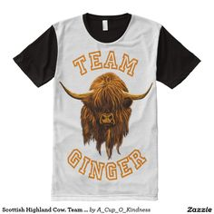 Wee Hamish, The happy, hairy, Scottish highland cow, is a very proud member of team ginger!