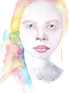 'Each Step Of The Way' Portrait Painting by Guinevere Saunders Artist Watercolour on 140lb Watercolour Paper 2014
