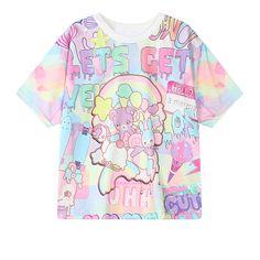 New Kawaii Bear unicorn rabbit pastel fairy kei tshirt tee top women harajuku  #Unbranded #BasicTee